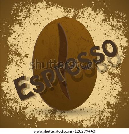 vintage coffee Espresso background - stock vector