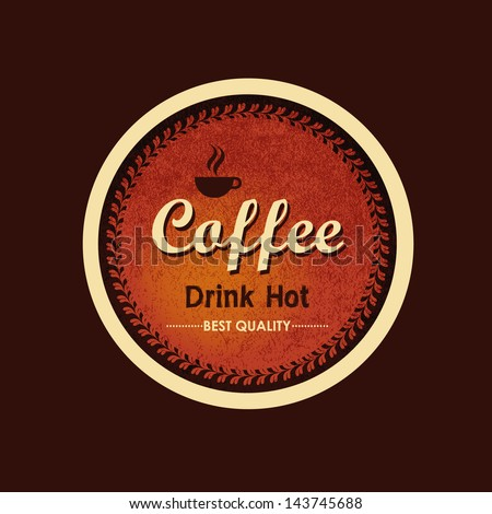 Vintage coffee label and logo - stock vector