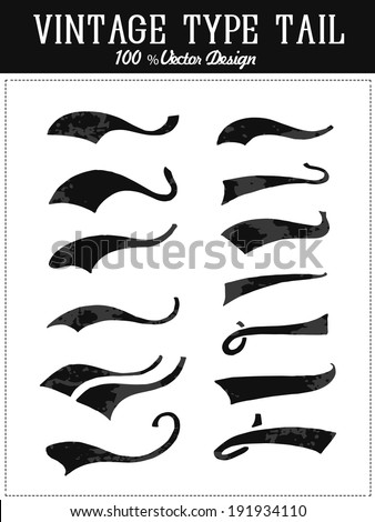 vintage college tail collection - stock vector