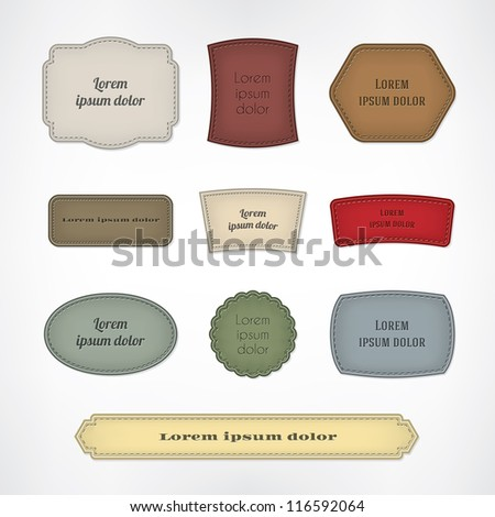 Vintage colored stripes set - stock vector