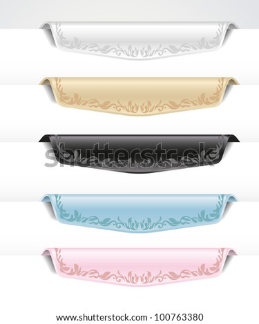 Vintage colored tabs and labels - stock vector
