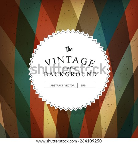 Vintage Colorful Abstract Vector Background Template - stock vector