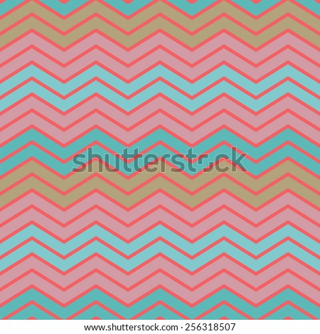 Vintage colorful geometric pink-blue  stripes pattern