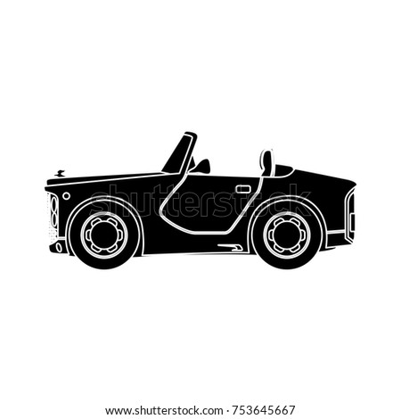 vintage convertible car icon