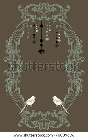vintage cool classic card design - cover design - tag - invitation - stock vector