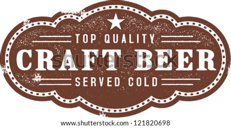Vintage Craft Beer Bar Sign - stock vector