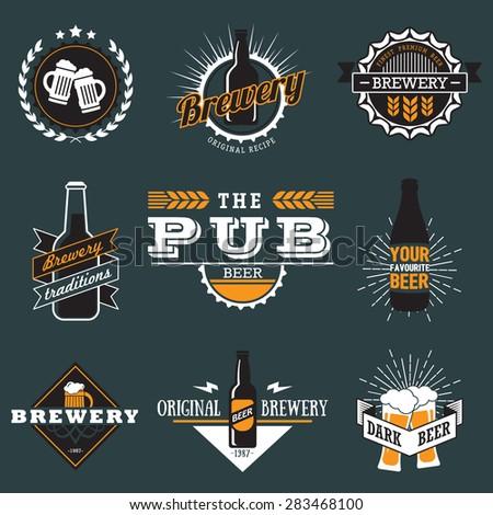 Craft Brewery Labels Vintage Craft Beer Brewery