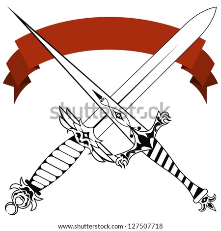 Crossed swords stock photos images pictures shutterstock for Crossed swords tattoo
