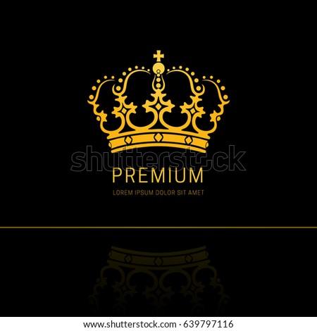 Queen crown logo design