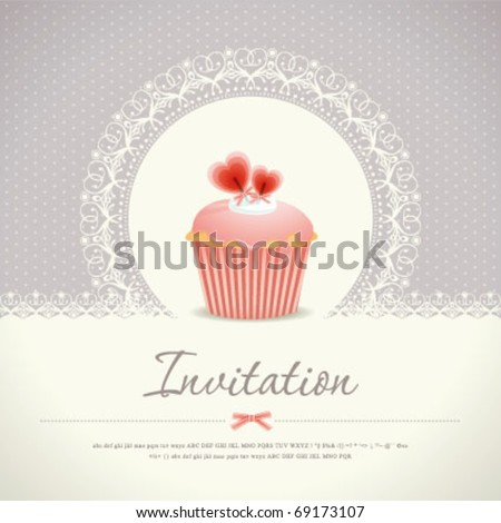 Vintage cupcake background 08 - stock vector