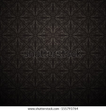Vintage dark seamless background. Vector illustration - stock vector