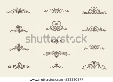 Vintage decor elements wicker lines vector stock vector 533330899 vintage decor elements and wicker lines in vector decoration for logos page wedding junglespirit Image collections