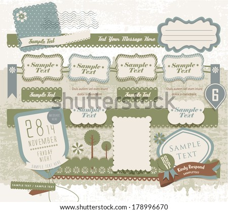 Vintage decorative design elements (23) - stock vector