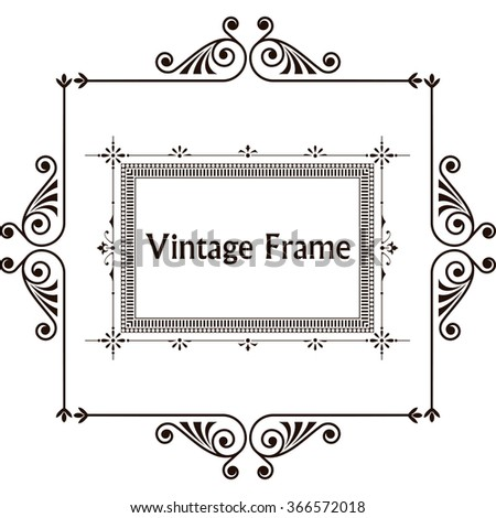 Vintage decorative elements. Sign, logo. For restaurants and cafes. Greeting card with flowers and curls - stock vector