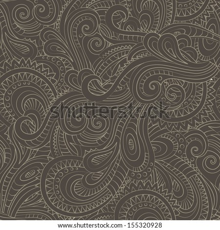 Vintage decorative floral ornamental seamless pattern - stock vector