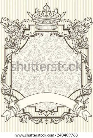 Vintage decorative frame - stock vector