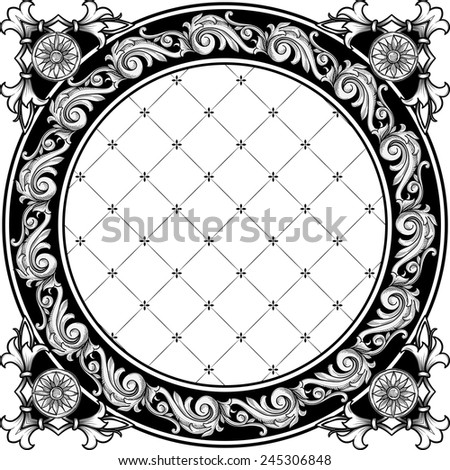 Vintage decorative frame - stock vector