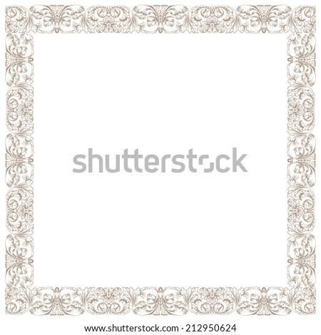 Vintage decorative framework. Illustration isolated in white square - stock vector