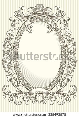 Vintage decorative ornate floral design - stock vector