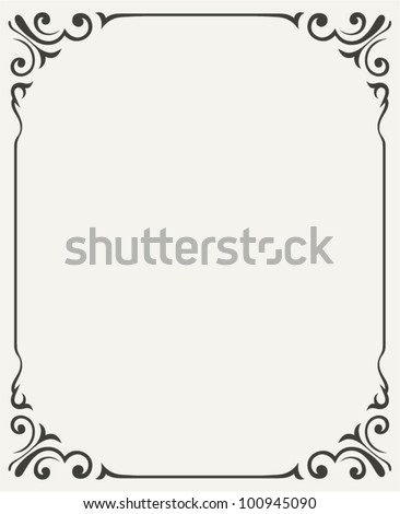 Vintage design elements - stock vector