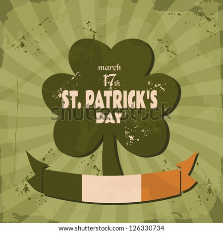 Vintage design for St. Patrick's Day. - stock vector