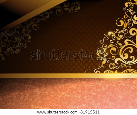 Vintage Design Vector Background - stock vector