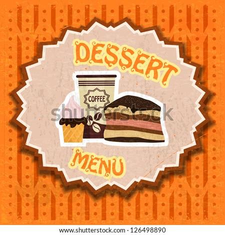 Vintage dessert menu - stock vector