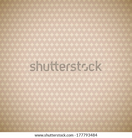Vintage different vector pattern (tiling). Endless texture for wallpaper, fill, web page background, surface texture. Monochrome geometric ornament. Beige, brown shabby colors. Star shapes - stock vector