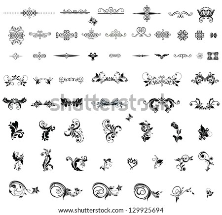 Vintage dividers and design elements - stock vector