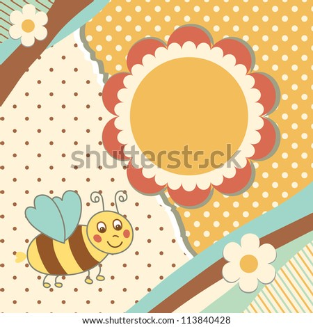 Vintage doodle toy for frame vector eps 8 - stock vector