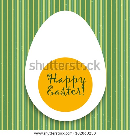 Vintage Easter egg. Easter vintage card. Vector illustration. - stock vector