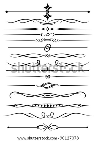 Vintage elements and borders set for ornate and decoration. Jpeg version also available in gallery - stock vector
