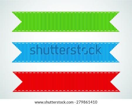 vintage elements set - stock vector