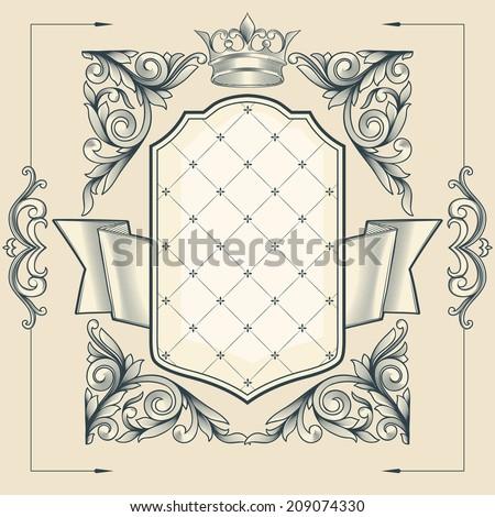 Vintage emblem - stock vector