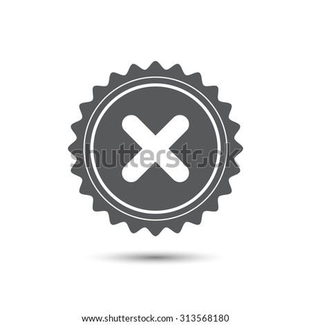 Vintage emblem medal. no icon. Classic flat icon. Vector. - stock vector