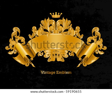 Vintage Emblem, Vector - stock vector