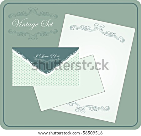 Vintage Envelope With Letter