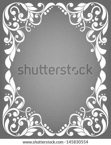 Vintage filigree frame - stock vector