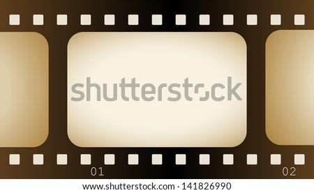 Vintage Film Frame - stock vector