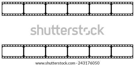 vintage film strip with copy space - stock vector