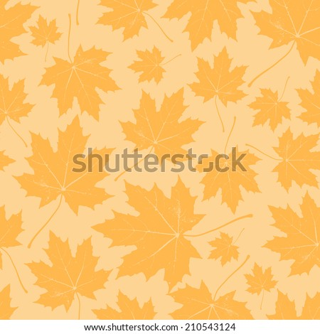 vintage floral autumn (fall) seamless pattern with maple leaves  - stock vector