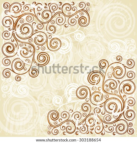 Vintage floral backdrop. - stock vector
