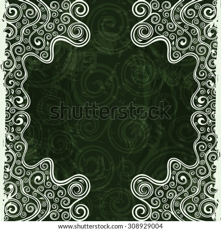 Vintage floral backdrop - stock vector