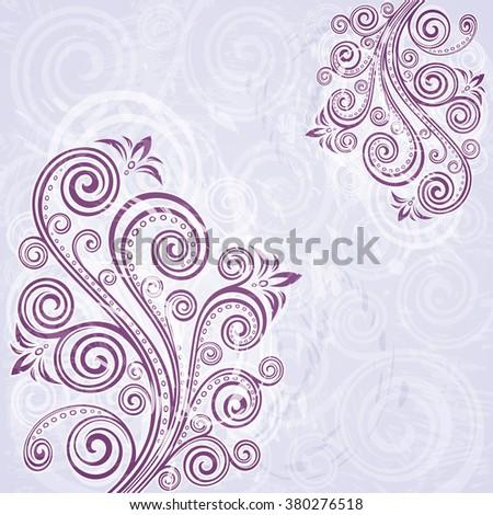 Vintage floral backdrop. - stock vector