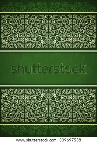 Vintage floral background. - stock vector