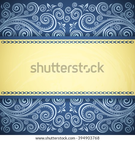 Vintage floral background. - stock vector