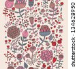 Vintage floral background in pink colors. Seamless pattern can be used for wallpaper, pattern fills, web page backgrounds, surface textures. Gorgeous seamless floral background - stock vector