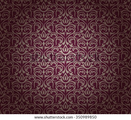 Vintage floral background pattern, vector illustration.
