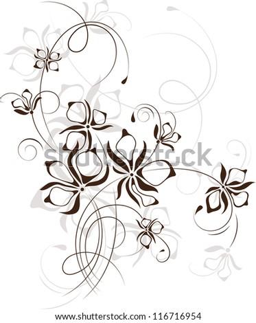 Vintage floral background, vector illustration - stock vector