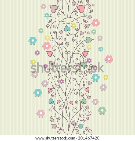 Vintage floral card background vector eps 10 - stock vector